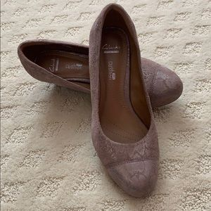 Comfortable wedges by Clark.